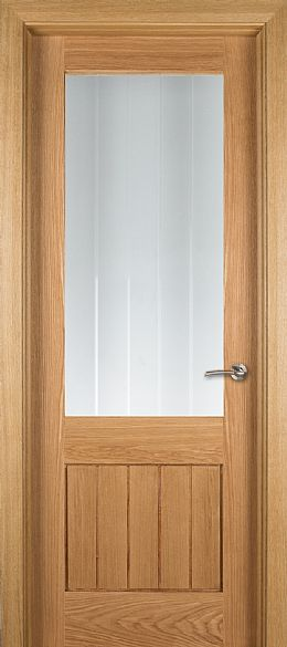 Genoa 1-Lite Unglazed Oak Door (40mm)